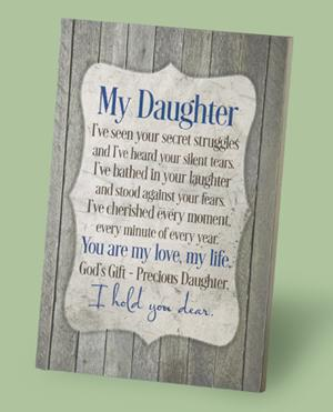 My Daughter Poem Plaque
