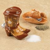Cowboy Hat and Boots Salt and Pepper Shakers