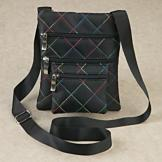 RFID-Blocking Quilted Bag with Rainbow Thread
