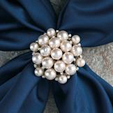 Champagne Cluster-Style Scarf Ring