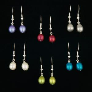 Freshwater Pearl Earrings - Set of 6 Pairs