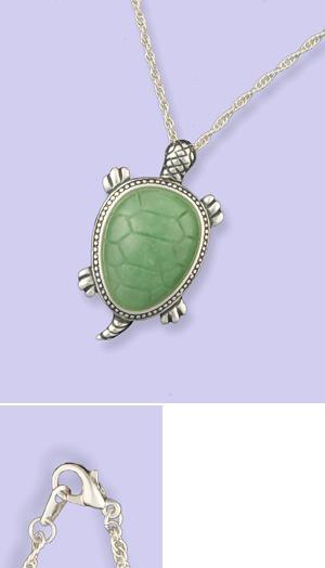 Jade Turtle Pendant