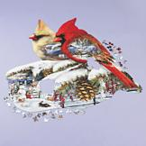 Cardinals' Winter Wonderland Puzzle