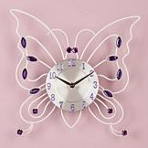 Butterfly Clock with Purple Beads