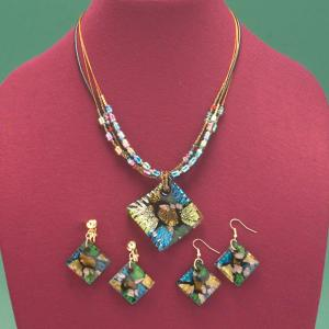 Mosaic Art Glass Necklace