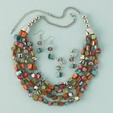 Mother-of-Pearl Bead Necklace