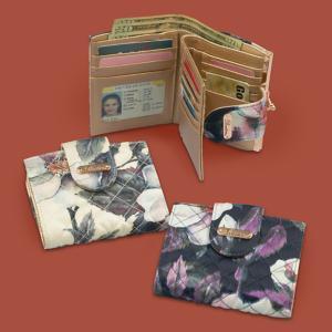 Buxton RFID Cream Floral Wallet