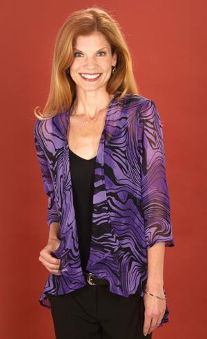 Violet Swirl Chiffon Jacket