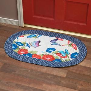 Floral Butterfly Rug
