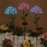 Hydrangea Solar Stake Lights - Blue