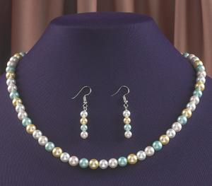 Pastel Mother-of-Pearl Necklace