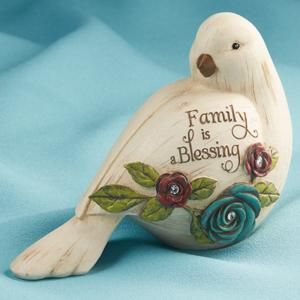 Family is a Blessing Bird Figurine