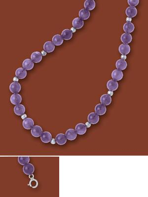Purple Amethyst Bead Necklace