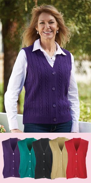 Button-Down Sweater Vest
