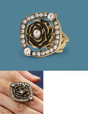 Crystal Rose Stretch Ring
