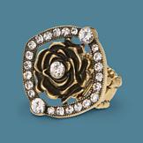 Crystal Rose Stretch Ring