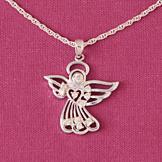 CZ Angel Pendant