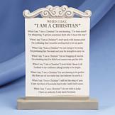 I am a Christian Plaque