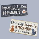 Wooden Cat Sign