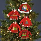 Christmas Sweater Ornaments - Set of 5