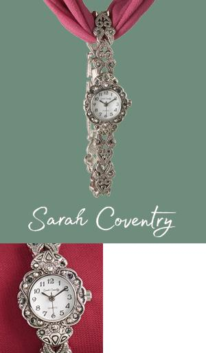 Sarah Coventry Antique-Look Silvertone Watch