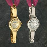 Sarah Coventry Watch with Rhinestones - Silvertone