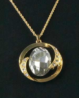 Oval Crystal Pendant