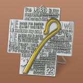 23rd Psalm Silvertone Metalwork Cross