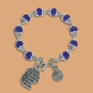Tribute Bracelet with Cobalt-Blue Crystals