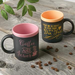 Chalkboard-Style Jesus Mug - Coffee and Jesus