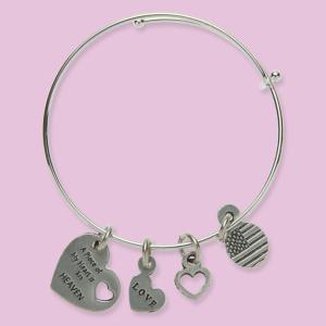 Genuine Pewter Tribute Charm Bracelet