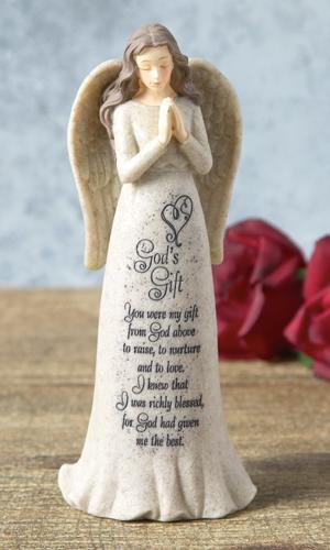Angel Figurine with God's Gift Poem
