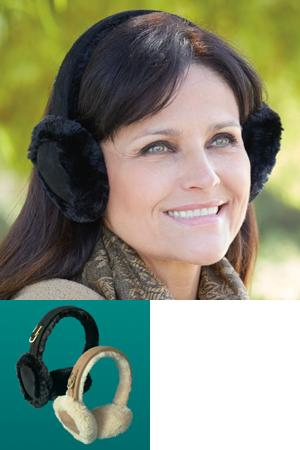 Microfiber Plush Earmuffs - Chestnut