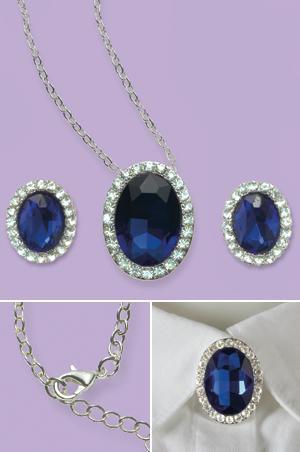 Simulated Blue Sapphire Pin/Pendant