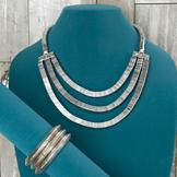 Silvertone Metal Serpentine Necklace