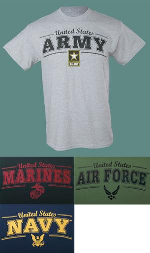 Armed Forces Crew Neck Tee - Marines