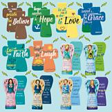 Cross and Angel Magnetic Bookmarks - Set of 12