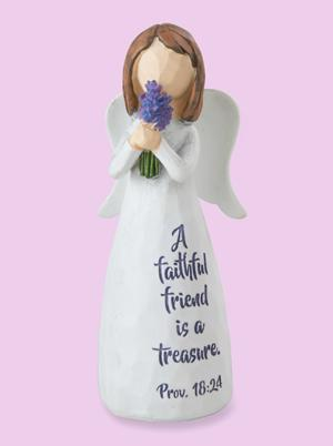 Proverbs 18:24 Friendship Angel Figurine