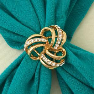 Goldtone Scarf Ring