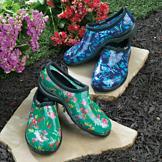 Green Garden Sloggers with Fresh-Cut Flowers Design