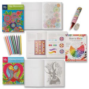 Coloring Gift Set with Guide and Storage Box