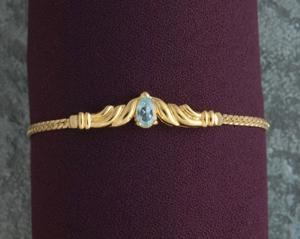Genuine Blue Topaz Bracelet