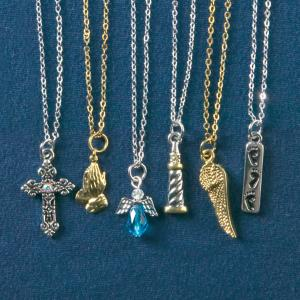 Inspirational Charm Necklaces - Set of 6