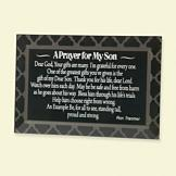 A Prayer for My Son Beveled Glass Plaque