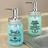 Canning Jar Soap Dispenser - Jesus Cleans Your Heart