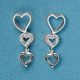 Dangling Heart Pierced Earrings