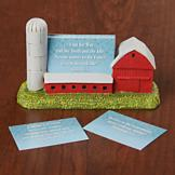 Scripture Card Set with Red Barn Card Holder
