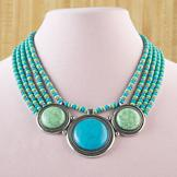 Five-Strand Simulated Turquoise Necklace