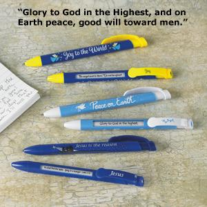 Christmas Scripture Pens - Set of 6