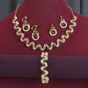 Goldtone Mesh Necklace